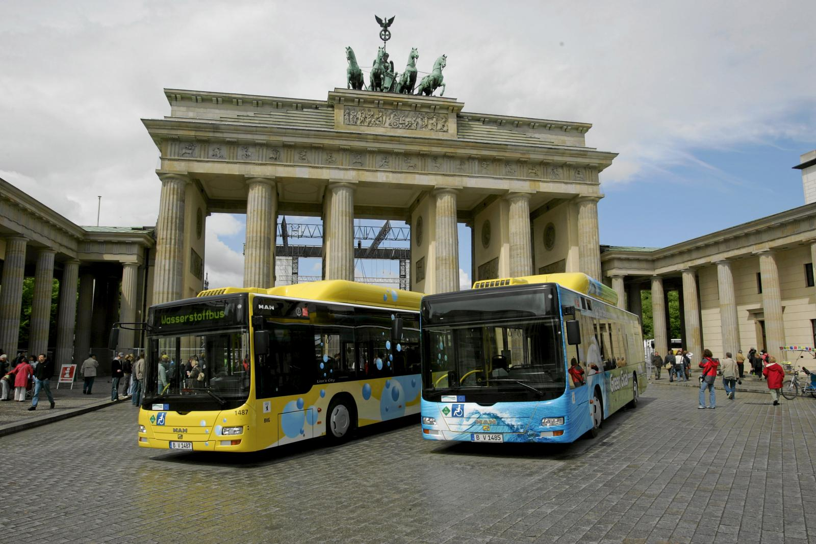BVG bus (Public transports of Berlin Company) running with hydrogen