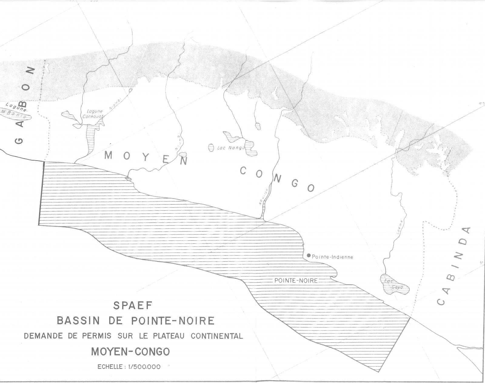 Map of the Pointe Noire Basin