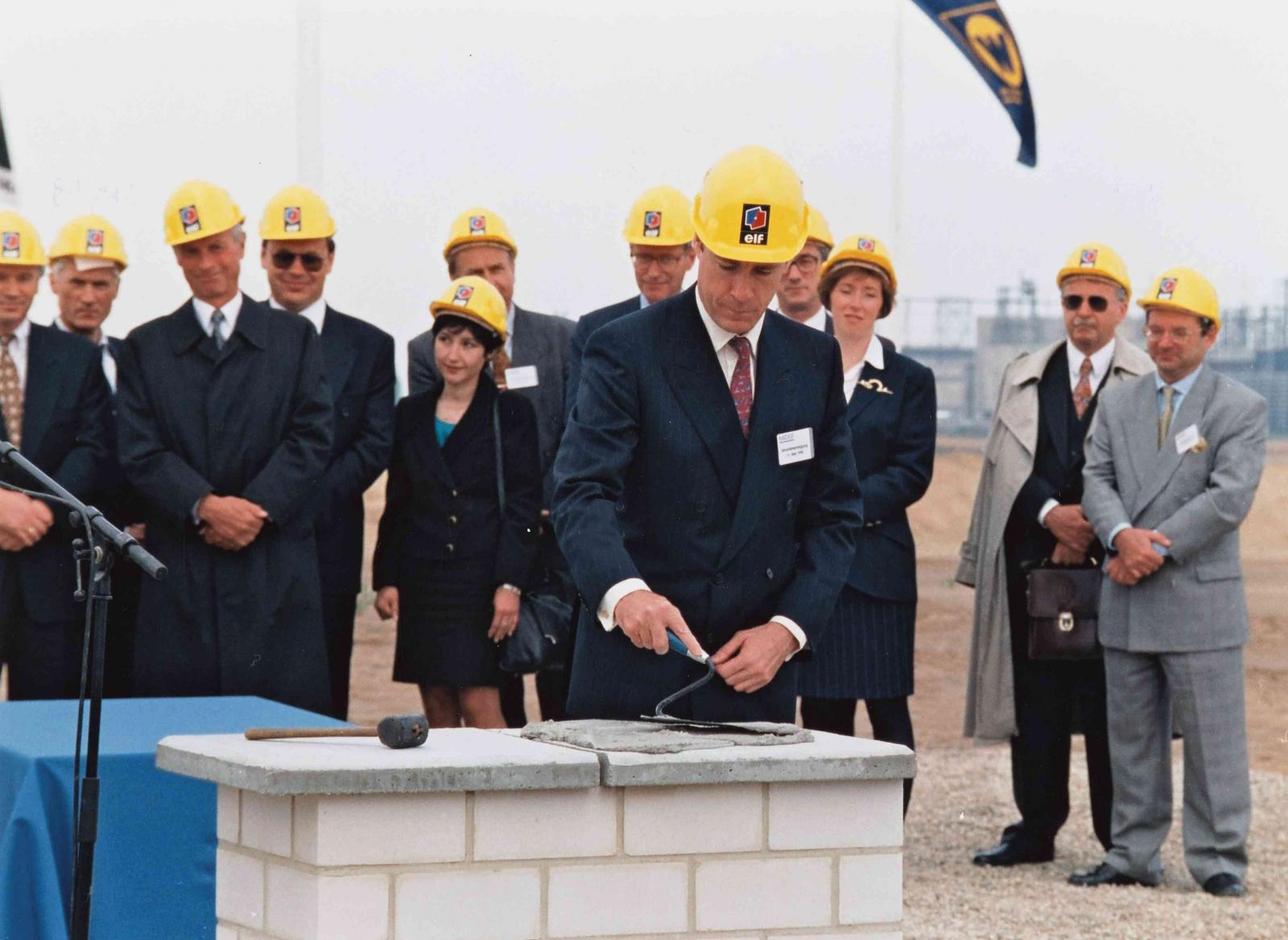 Foundation stone ceremony of Leuna refinery