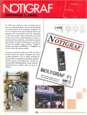The special edition of Notigraf commemorated 5 years of the project.