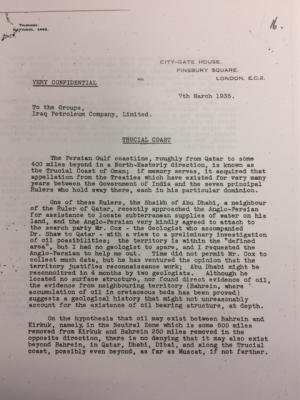 Letter of Iraq Petroleum Comapny to Groups 1/2 - 7th March 1935