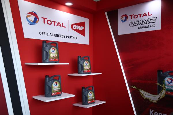 Promotion of Total Quartz car engine oil at our stall.