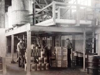 Inside historical Linden Facility circa early 1900s.