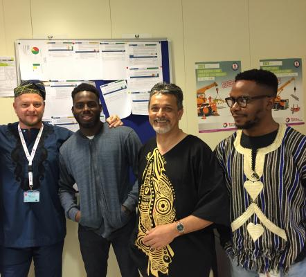 Staffs and Interns embracing cultural diversity at work