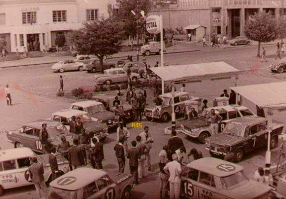 TOTAL sponsored car rally picture taken more than 50+ year ago