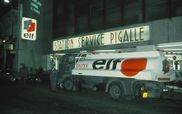 Service station at Pigalle during the marketing campaign (1967)